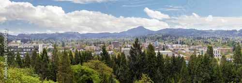 Eugene Downtown from Skinner Butte Park Panorama