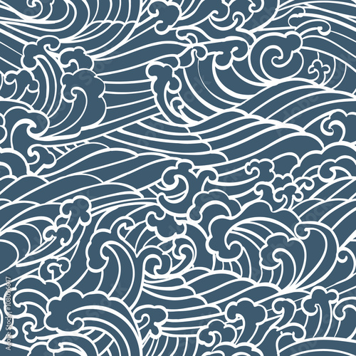 pattern-seamless-ocean-waves-hand-draw-asian-style-white-hand-drawn-on-a-blue-background