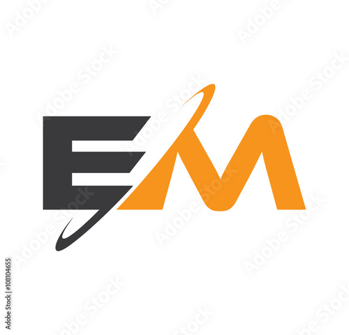Photo  EM initial logo with double swoosh