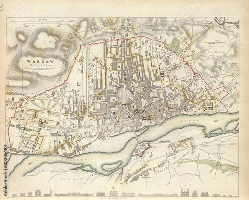 Obrazy Wenecja  mapa-starej-warszawy