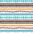 Tribal art ethnic boho borders seamless pattern