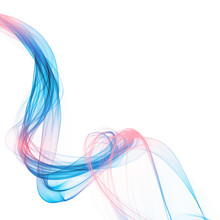 The Magical Form Of Pink-blue Smoke. Abstract Violet-red-Blue Background