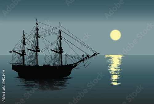 In de dag Schip Old sailing ship