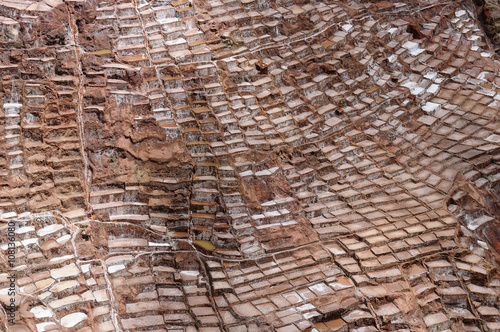South America, Peru, Salt mine in the Sacred Valley
