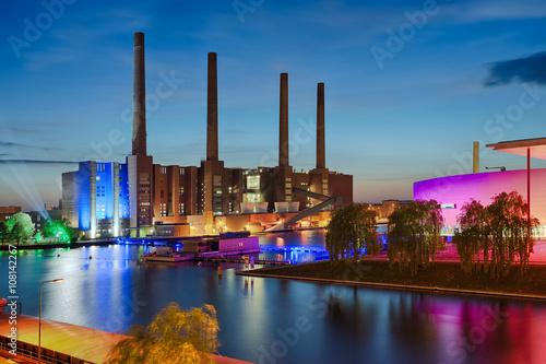 Photo  VW Werk beleuchtet