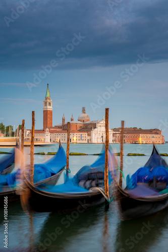 Spoed Foto op Canvas Blick nach San Giorgio Maggiore am Abend, Venedig