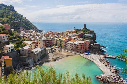 Vernazza, Cinque Terre, Liguria, Italia Poster