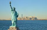 Fototapeta Nowy Jork - Statue of Liberty and Manhattah skyline.