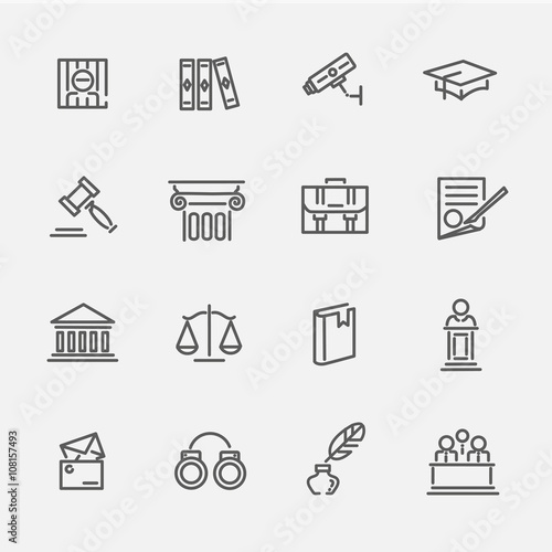 Fotografie, Obraz  Legal, law and justice icon set