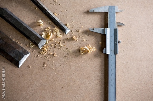 Foto op Canvas Jacht Tools and equipment used for carpentry