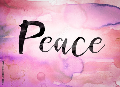 Peace Concept Watercolor Theme Buy This Stock Illustration And