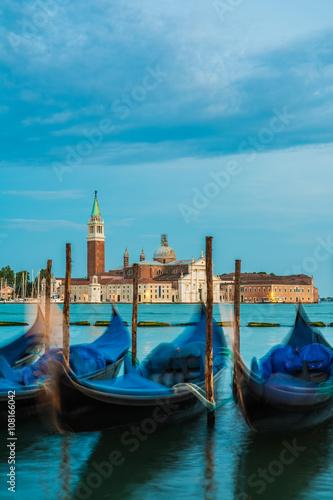 Spoed Foto op Canvas Blick nach San Giorgio Maggiore in Venedig am Abend, Norditalien