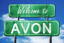 Avon Vintage Green Road Sign W...