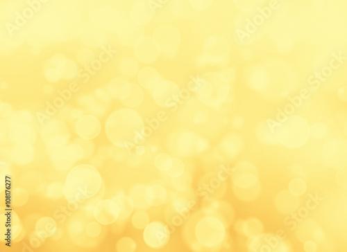 Fototapeta Abstract golden lights bokeh background obraz na płótnie