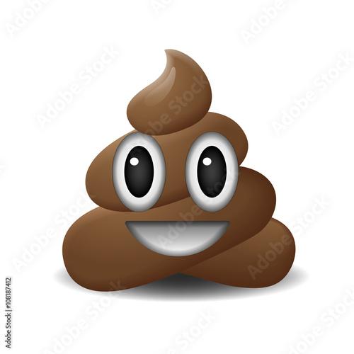 Shit icon, smiling face, symbol, emoji