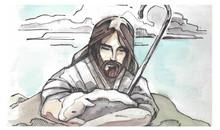 Jesus Goos Shepherd Illustration
