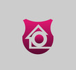 Letter O logo icon with real estate home logo