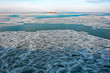 Frozen sea ice pattern