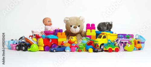 Obraz na płótnie Toys on a white
