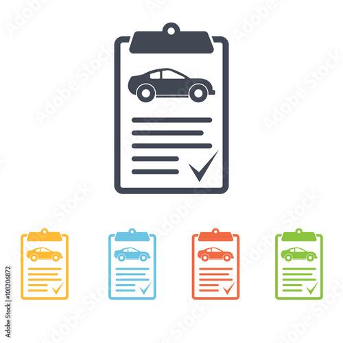 Fotografía  vehicle inspection icon