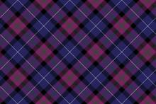 Pride Of Scotland Tartan Fabric Diagonal Texture Seamless Patter