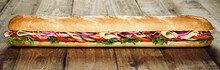 Delicious Cold Meat And Salad French Baguette