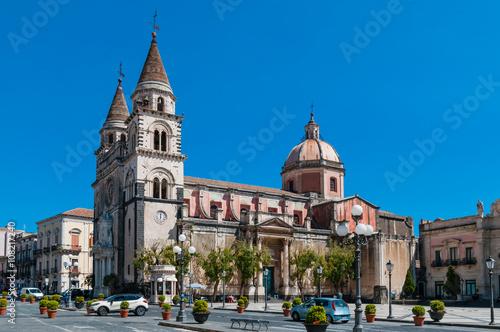 Piazza del Duomo in Acireale; Sizilien; Italien Canvas Print