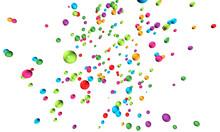 3D: Farbenfroher Perlen-Hintergrund Auf Weiß