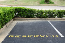 Reserved Parking Spot