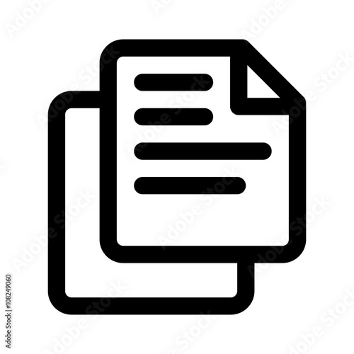 Copy or duplicate document line art icon for apps and websites Wall mural