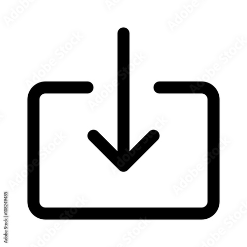Valokuva  Import file or import document download line art icon for apps and websites