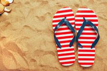Pair Of Thongs Or Flip Flops O...