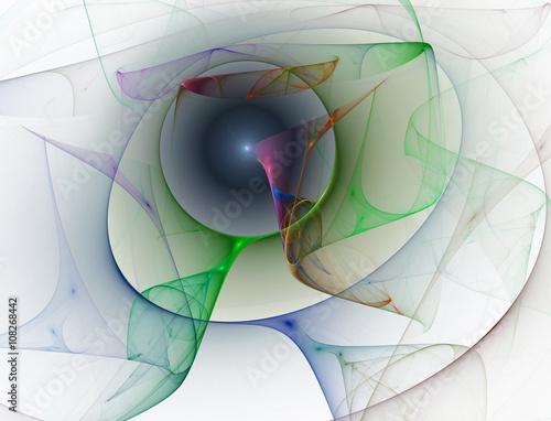 Staande foto Fractal waves Abstract fractal background
