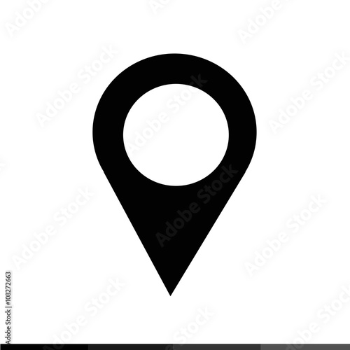 Location Pin Icon Illustration design Wallpaper Mural