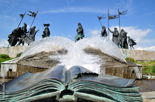 Canvas Prints Artistic monument Nibelungen Monument Tulln