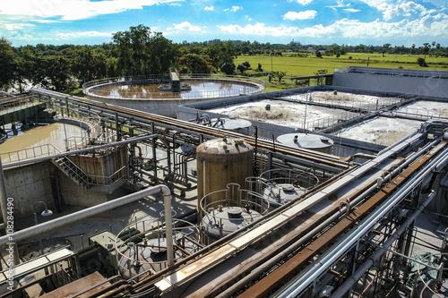Fotografía  Waste water treatment, purification plant