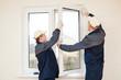 Leinwandbild Motiv windows installation worker