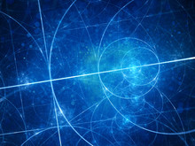 Blue Glowing Euclid Circles