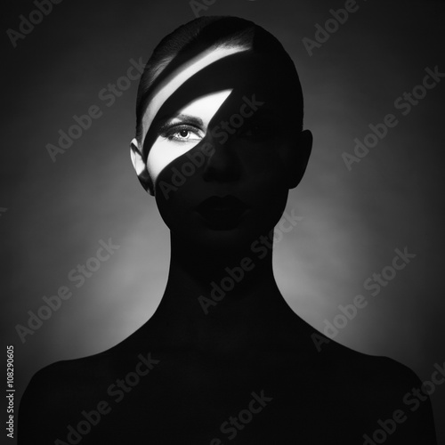 Recess Fitting womenART Surrealistic young lady with shadow on her body