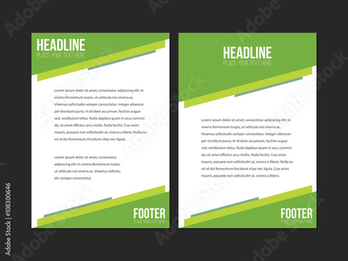 Green And White Leaflet Brochure Flyer Template A4 Size Design Book
