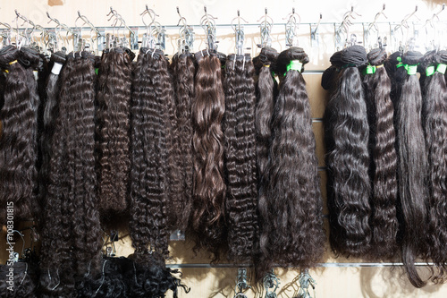 Fotografie, Obraz  Assortment of human hair extensions