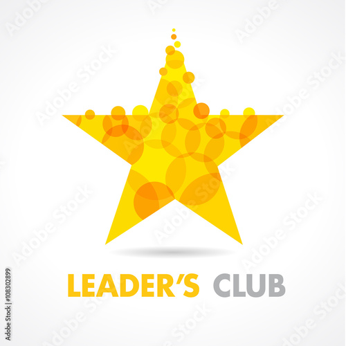 Leaders Club Star Logo Vector Graphic Gold Symbol For Company