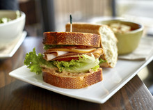 Turkey Sandwich With Bacon And Cheese