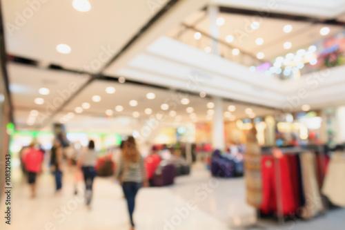 Fotografía  Blurred shopping mall background