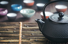 Traditional Oriental Teapot On...