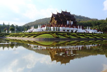 The Royal Pavilion (Ho Kham Luang) In Royal Park Rajapruek In Chiang Mai At Thailand