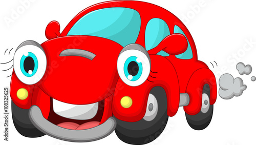 Tuinposter Cartoon cars cute car cartoon