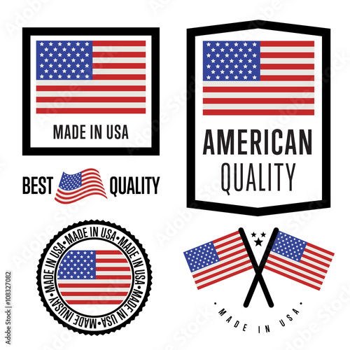 Made in USA label set Poster