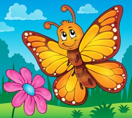 FototapetaHappy butterfly topic image 2