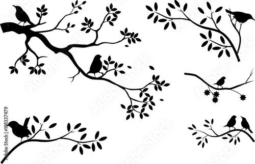 zbior-sylwetki-drzewa-z-ptakiem